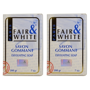 Fair & White Exfoliating Soap 200g ( lot of 2 )